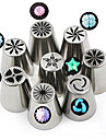 8 Pcs Lot Russian Tulips Cake Decoration Tools Set Stainless Steel Pipping Nozzles