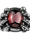 Кольцо Цирконий Циркон Цирконий Сталь В форме черепа Мода Красный БижутерияСвадьба Для вечеринок Halloween Повседневные Спорт Новогодние