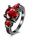 Кольцо Цирконий Циркон Цирконий Сталь Лиловый Красный Бижутерия Свадьба Для вечеринок Halloween Повседневные Спорт 1шт