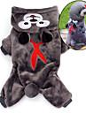 Gatos / Perros Disfraces / Saco y Capucha / Pijamas Marron / Gris Ropa para Perro Invierno / Primavera/Otono CaricaturasAdorable /