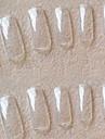 manucure Vente en gros korea 500 morceaux de pate transparente transparente complete un morceau de faux ongles