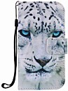 For Samsung Galaxy S7 edge S7 Case Cover White Leopard Painting PU Phone Case S5 S4 S3