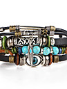 Vintage Turquoise Bracelets Bangles Jewelry s Evil Eye Feather Leather Bracelet Beads Weave for Men Women Christmas Gifts