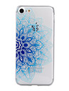 Pour iPhone X iPhone 8 iPhone 7 iPhone 6 Coque iPhone 5 Etuis coque Relief Motif Coque Arriere Coque Fleur Flexible PUT pour Apple iPhone