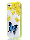 Pour Coque iPhone 7 Coque iPhone 6 Coque iPhone 5 Transparente Motif Coque Coque Arriere Coque Papillon Flexible PUT pour AppleiPhone 7