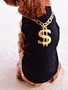 Коты Собаки Футболка Одежда для собак Лето Весна/осень Буквы и цифры Мода Черный Лиловый Розовый