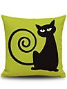 Halloween Capuchin Black Cat Square Linen Decorative Throw Pillow Case Cushion Cover