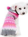 Dog Sweater Pink Dog Clothes Winter / Spring/Fall Stripe Cute / Keep Warm