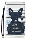 Para samsung galaxy s7 edge s7 case dog pu leather wallet s5 s6 s7