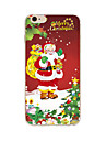 Pour Coque iPhone 7 Coque iPhone 6 Coque iPhone 5 Motif Coque Coque Arriere Coque Noel Flexible PUT pour AppleiPhone 7 Plus iPhone 7