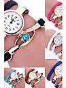 Женские Модные часы Часы-браслет Наручные часы / Кварцевый Кожа Группа Цветы Богемные Черный Белый Синий Красный Розовый Фиолетовый