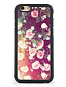 Roses Pattern Design Metal CoatedTPU Frame Back Case for iPhone 7 7 Plus 6s 6 Plus SE 5s 5c 5 4s 4