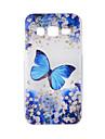 Pour samsung galaxy j7 j5 casquette bleu papillon peint motif tpu materiel telephone etui