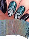 24 Nail Art Sticker Diecut Manicure Stencil maquiagem Cosmeticos Prego Design Arte