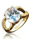 Кольцо Цирконий Позолота 18K золото Белый Красный Синий Бижутерия Свадьба Для вечеринок Повседневные 1шт