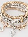 Femme Charmes pour Bracelets Strass Imitation de diamant Alliage Simple Style Mode Notes de musique Arc-en-ciel Bijoux 1set