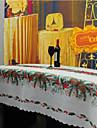 Квадратный С узором / Вышивка Скатерти , Лен/хлопок материал Рождество Декор Фавор 1