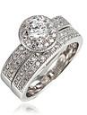 Кольцо Цирконий Позолота 18K золото Белый Красный Зеленый Синий Бижутерия Свадьба Для вечеринок Повседневные 1шт
