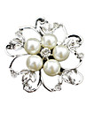 Women\'s Brooches Pearl Simulated Diamond Jewelry Wedding Party Daily Casual