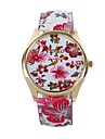 아가씨들 드레스 시계 패션 시계 손목 시계 / 석영 PU 밴드 빈티지 꽃패턴 캐쥬얼 멀티컬러