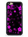 Fuer Muster Huelle Rueckseitenabdeckung Huelle Blume Hart Aluminium AppleiPhone 7 plus / iPhone 7 / iPhone 6s Plus/6 Plus / iPhone 6s/6 /