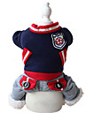 Dog Clothes/Jumpsuit Red / Blue Dog Clothes Winter / Spring/Fall Solid Sports