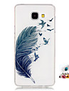 For Samsung Galaxy A5 A3(2016) Cover Case Feather Pattern Painting High Permeability IMD Technology Tpu Material Phone Shell And Dust Plug Combination