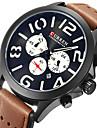 Men\'s Sport Watch Military Watch Dress Watch Fashion Watch Wrist watch Calendar Punk Quartz Japanese Quartz Leather BandVintage Cool