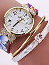 Women Mark Gold Watch Leather Strap Classic Fashion Bow Dress Strass Crystal Wrist Watch Watch Casual Watch Vintage