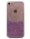 용 반투명 / 패턴 케이스 뒷면 커버 케이스 글리터 샤인 하드 아크릴 용 Apple 아이폰 7 플러스 / 아이폰 (7) / iPhone 6s Plus/6 Plus / iPhone 6s/6