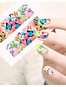 1pcs  Water Transfer Nail Art Stickers Beautiful Butterfly Colorful Flower Nail Art Design STZ91-95