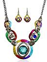 Бижутерия 1 ожерелье / 1 пара сережек Имитация Sapphire Для вечеринок / Повседневные 1 комплект Женский Разные цвета Свадебные подарки