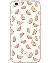 Para Antichoque / Estampada Capinha Capa Traseira Capinha Fruta Rigida PC para AppleiPhone 7 Plus / iPhone 7 / iPhone 6s Plus/6 Plus /
