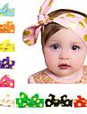 10 цветов / комплект младенца завязывают оголовье с золотыми точками напечатаны детской Hairband 10 цветов
