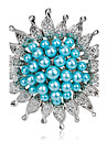 Women\'s Fashion Alloy/Pearl Flower Brooches Pin Party/Daily/Wedding Luxury Jewelry Accessory 1pc