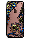 Para Com Relevo Capinha Capa Traseira Capinha Design de Renda Rigida PC para AppleiPhone 7 Plus iPhone 7 iPhone 6s Plus/6 Plus iPhone