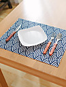 Square Floral Patterned Nautical Placemat , Cotton Blend Material Hotel Dining Table Table Decoration