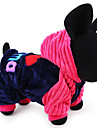 Dog Hoodie Dog Clothes Casual/Daily Keep Warm Letter & Number Blue Blushing Pink