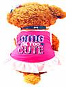 Собаки Платья Одежда для собак Лето Буквы и цифры Милые Розовый