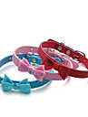 Cat Dog Collar Adjustable/Retractable Sequins Solid Red Blue Pink PU Leather