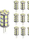 3W G4 Двухштырьковые LED лампы T 24 SMD 5050 270 lm Тёплый белый / Холодный белый Регулируемая / Декоративная DC 12 V 10 шт.