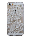 For iPhone 5 Case Transparent / Pattern Case Back Cover Case Lace Printing Hard PC iPhone SE/5s/5