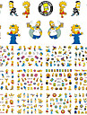 12 Designs Cartoon Children Nail Sticker Water Transfer Nail Art Tattoo Temporarily Nail Tips Decals Decor BN445-456
