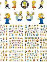 1sets, 12designs Стикер искусства ногтя Вода Передача Переводные картинки макияж Косметические Nail Art Design