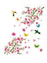 цветок сливы ПВХ стикер стены