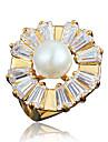 Кольцо Искусственный жемчуг Позолота 18K золото Золотой Белый Бижутерия Свадьба Для вечеринок Повседневные 1шт