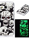 For Samsung Galaxy 7 (2016) J7 J5 (2016) Cover Case Glow in The Dark IMD Pattern Case Back Skull Soft TPU for J5  J3  J3 (2016) Galaxy Grand Prime