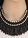 Women\'s Collar Necklace Statement Necklaces Resin Alloy Tassels Fashion Gold Black Gray Blue Rainbow Jewelry Party 1pc