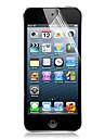 [6-pack] protetor de tela clara alta transparencia lcd cristal com pano de limpeza para o iPod touch 5