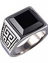 Кольца Повседневные Бижутерия Драгоценный камень Титановая сталь Мужчины Массивные кольца Кольцо 1шт,8 9 10 11 Золотой Серебряный